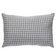 Hubsch sierkussen, polyester textiel, donkergrijs, ruiten, 40 x 60 cm