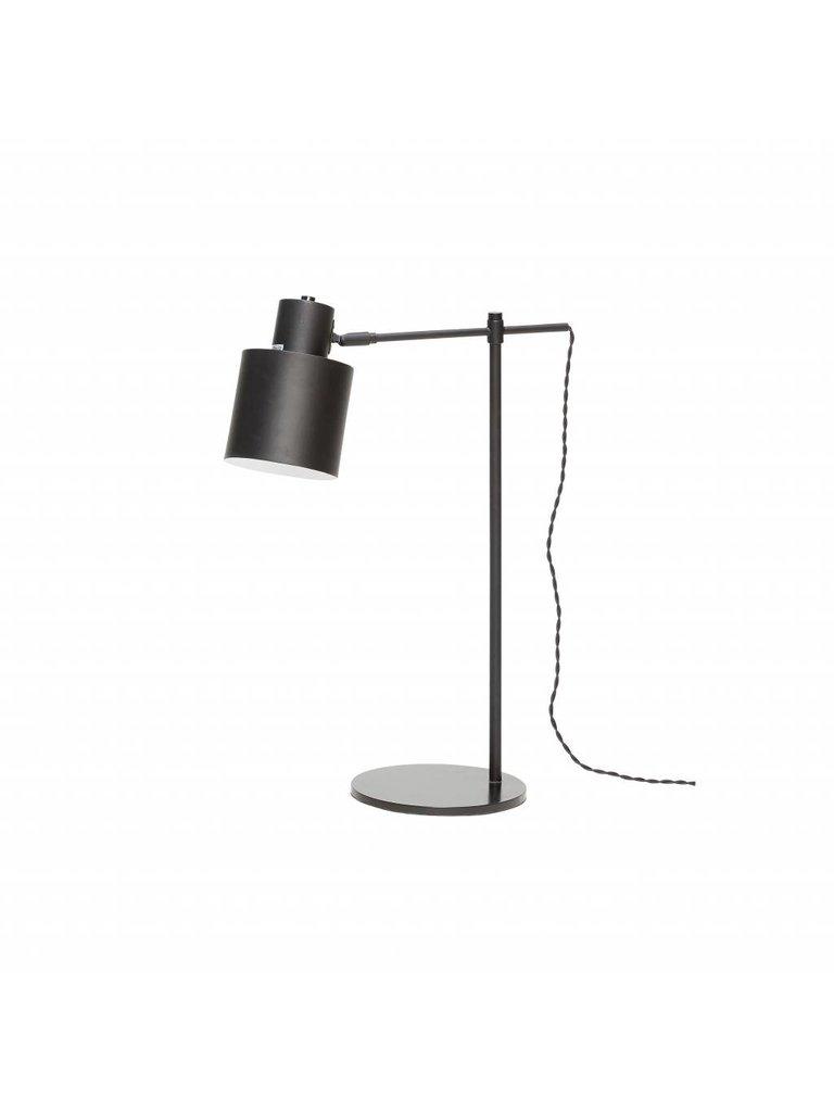 Hübsch Tafellamp, metaal, Zwart/wit, E27 Max. 40W, 36 x 20 x 57 cm. Hubsch 890301