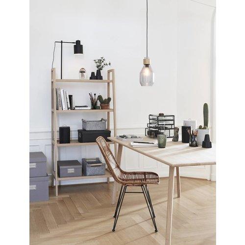 Hubsch tafellamp, metaal, zwart/wit, E27 max. 40W, 36 x 20 x 57 cm