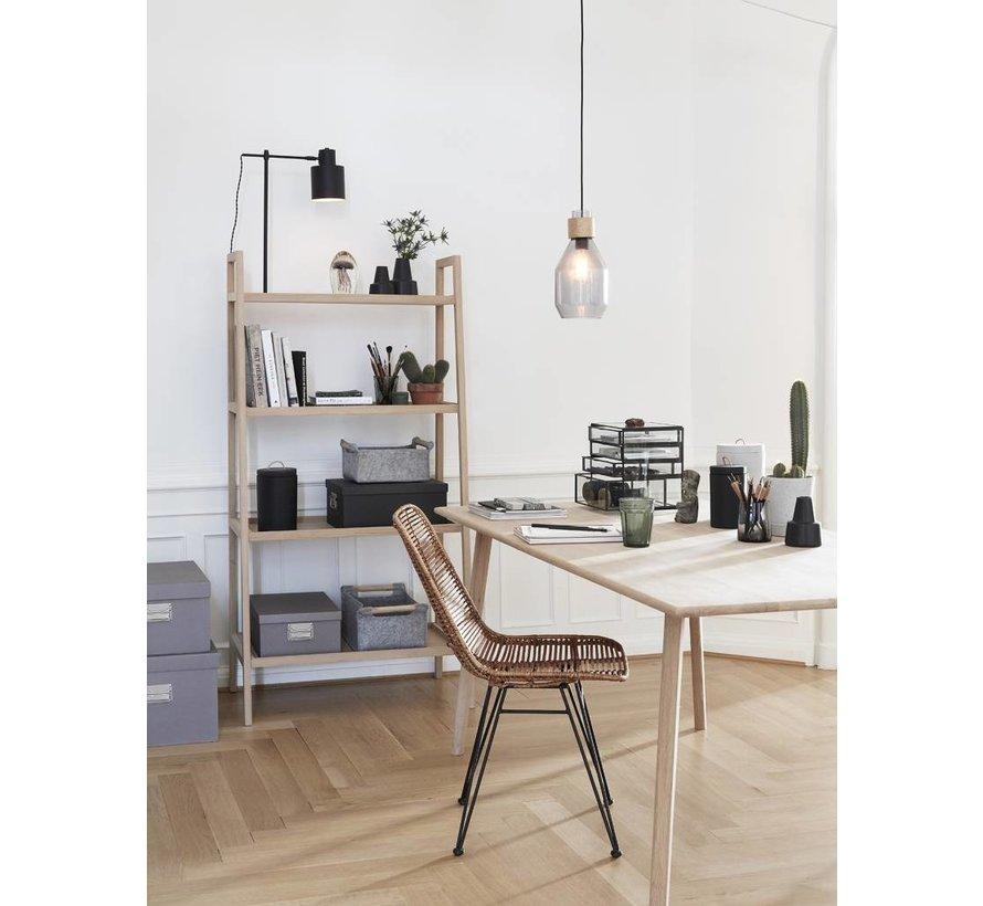 tafellamp, metaal, zwart/wit, E27 max. 40W, 36 x 20 x 57 cm