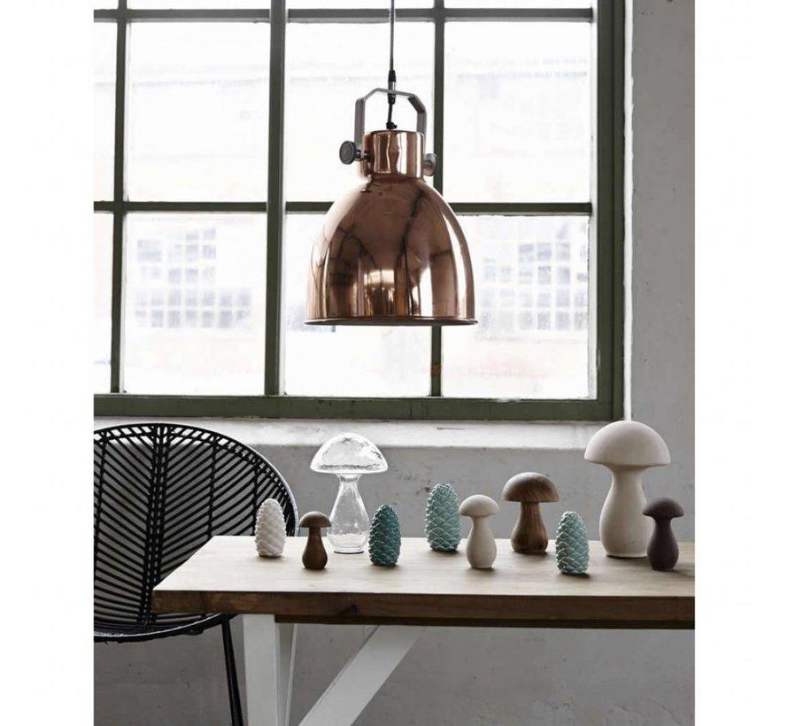hanglamp, metaal, roodkoper en grijs, ø29 x 41 cm