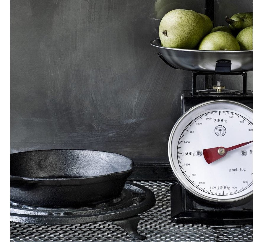steelpan, gietijzer, zwart, ø13 cm