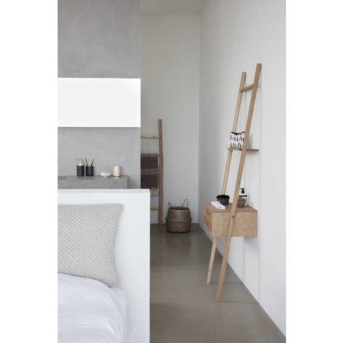 Hubsch ladderkast, eikenhout, bruin, met 2 lades, 52 x 41 x 180 cm