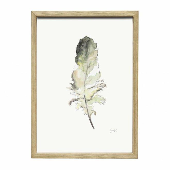 fotolijst, eikenhout, bruin, met afbeelding, 35 x 50 cm