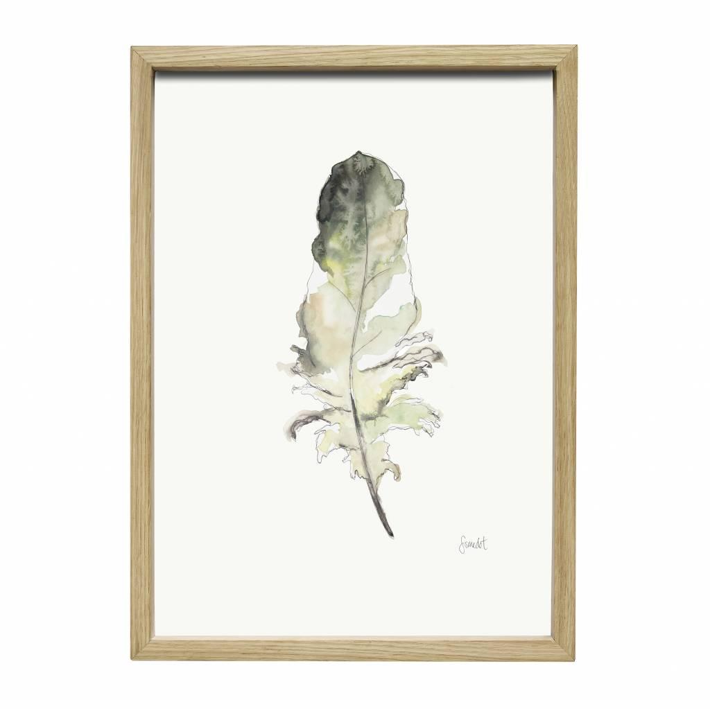 Hubsch fotolijst, eikenhout, bruin, met afbeelding, 35 x 50 cm-889040-