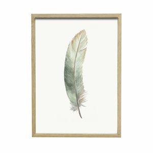 Hubsch fotolijst, eikenhout, bruin, met afbeelding, 30 x 42 cm