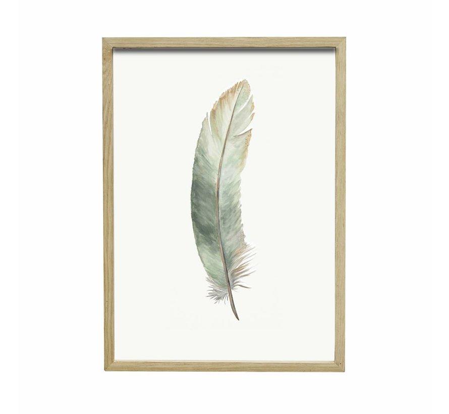 fotolijst, eikenhout, bruin, met afbeelding, 30 x 42 cm