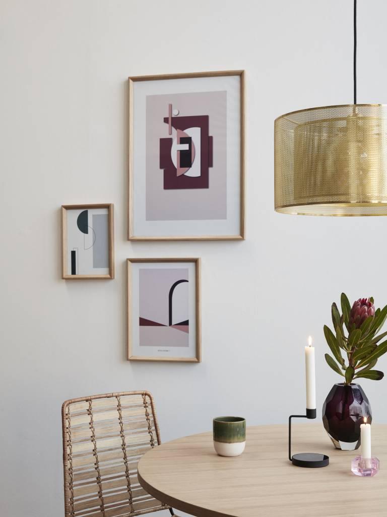 Hubsch fotolijst, eikenhout, bruin, met afbeelding, 50 x 70 cm - set van 2