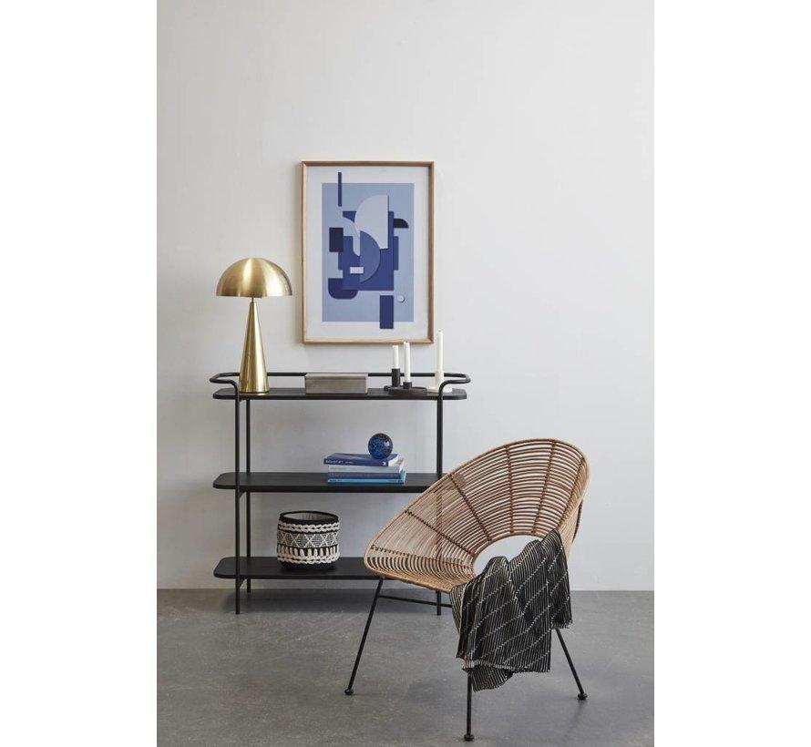 fotolijst, eikenhout, bruin, met afbeelding, 50 x 70 cm - set van 2