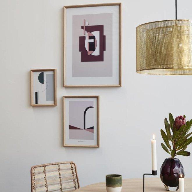 Hubsch fotolijst, eikenhout, bruin, met afbeelding, 30 x 42 cm - set van 2 - 880711