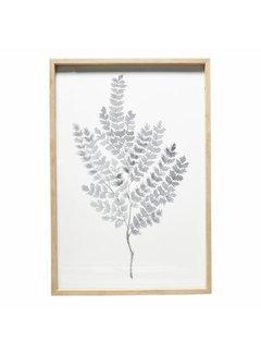 Hubsch fotolijst, eikenhout, bruin, met afbeelding, 60 x 90 cm