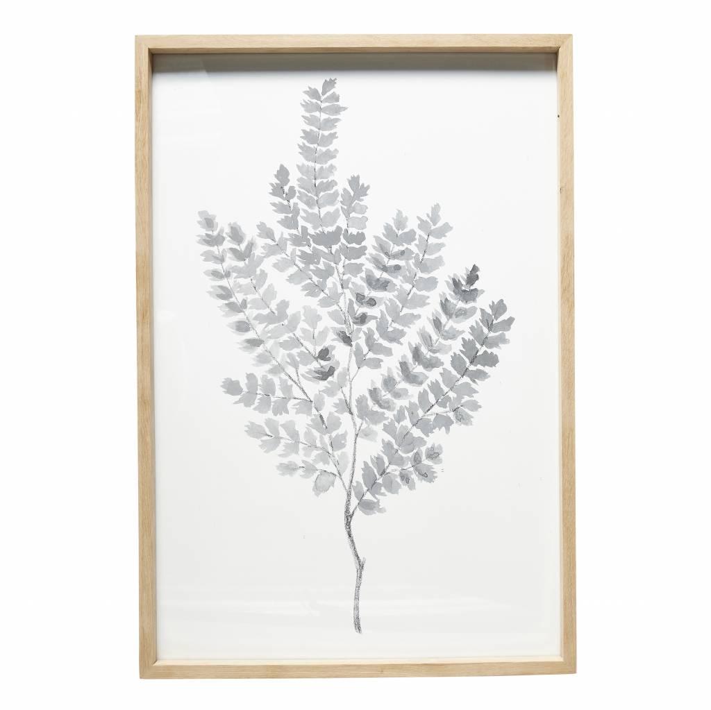 Hubsch fotolijst, eikenhout, bruin, met afbeelding, 60 x 90 cm-880192-