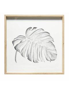 Hubsch fotolijst, eikenhout, bruin, met afbeelding, 65 x 65 cm