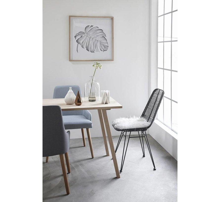 fotolijst, eikenhout, bruin, met afbeelding, 65 x 65 cm