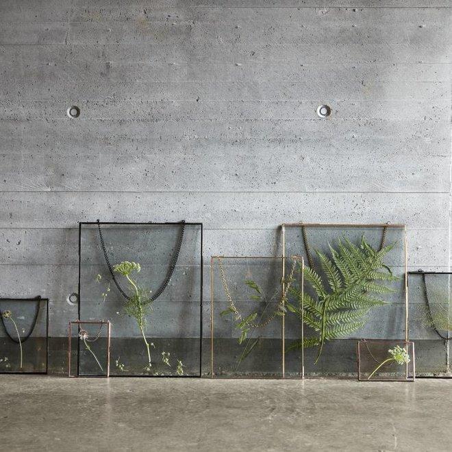 Hubsch fotolijst - metaal en glas - koper - 14 x 18 en 18 x 14 cm - set van 2 - 408028