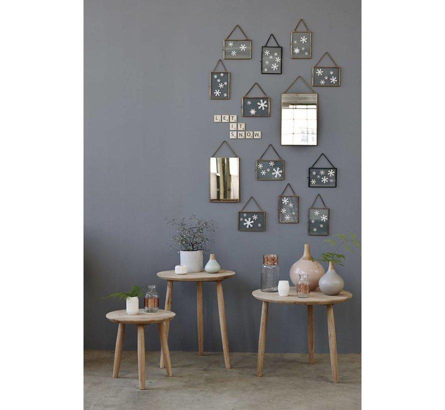 fotolijst - metaal en glas - koper - 14 x 18 en 18 x 14 cm - set van 2