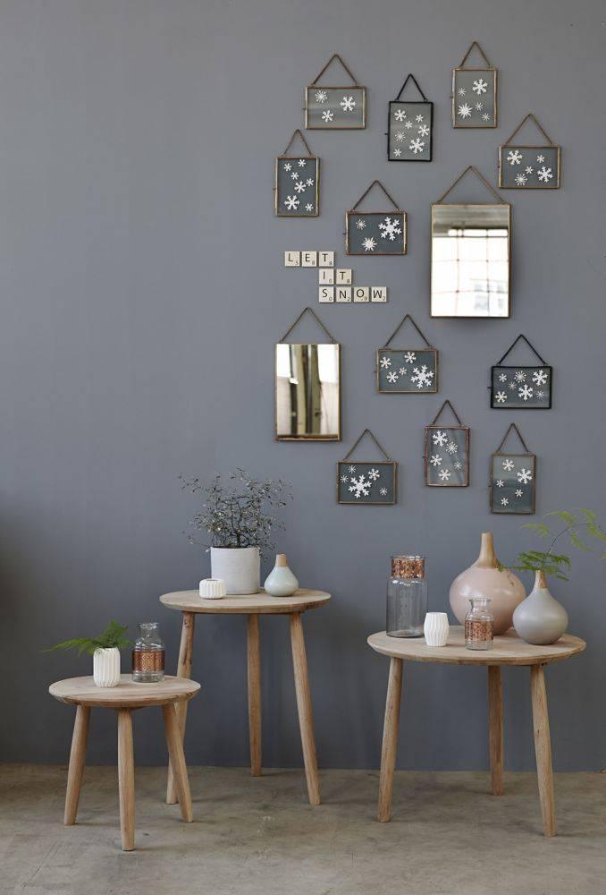 Hübsch Fotolijst - metaal en Glas - Koper - 14 x 18 en 18 x 14 cm - Set van 2. Hubsch 408028