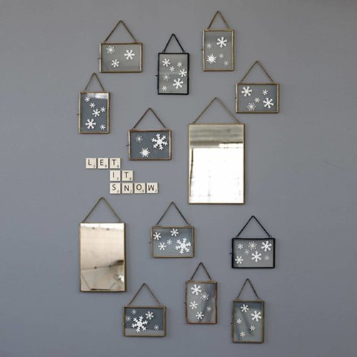 Hubsch fotolijst - metaal en glas - koper - 14 x 18 en 18 x 14 cm - set van 2