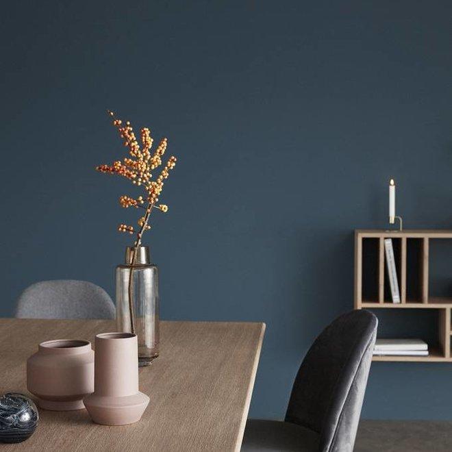 Hubsch stoel - velours en hout - donkergrijs - 48 x 48 x 84 cm - set van 2 - 100607