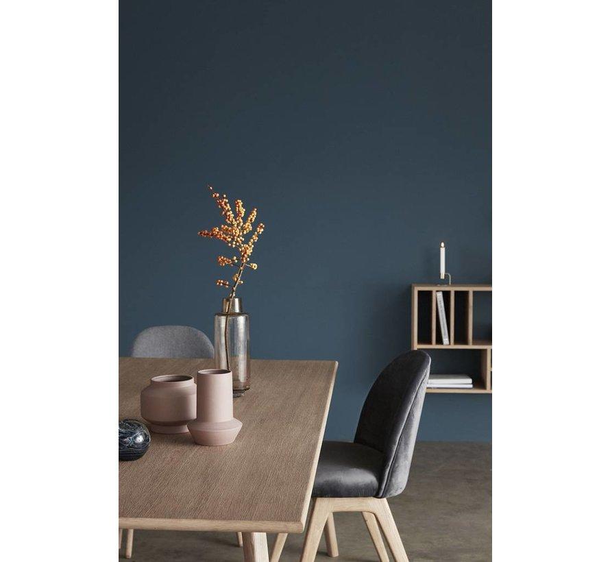 stoel - velours en hout - donkergrijs - 48 x 48 x 84 cm - set van 2