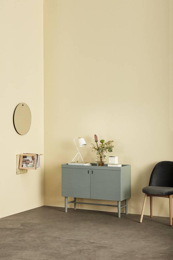 Hübsch Stoel - Velours en Hout - Donkergrijs - 48 x 48 x 84 cm - Set van 2. Hubsch 100607