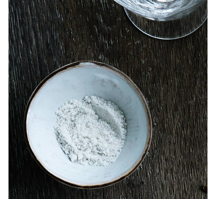 beker Hessian espresso - crème/bruin aardewerk - 100 ml - set van 4