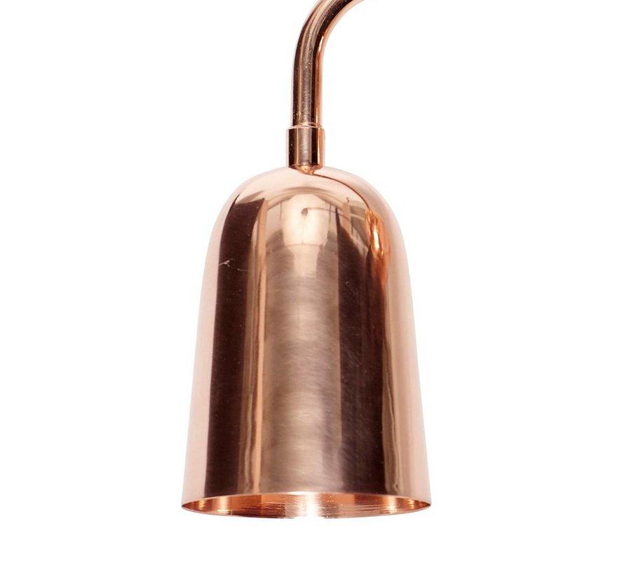 wandlamp, koper, rood, E27 max. 40 Watt, 18 x 16 x 20 cm