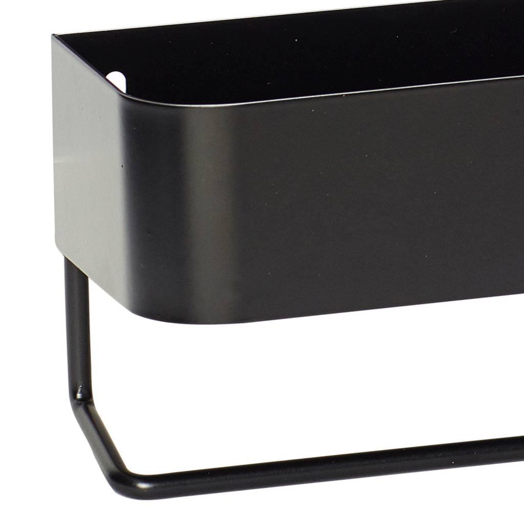 Hubsch wandrek met hanger - metaal - zwart - 35 x 8 x 10 cm-210501-5712772061503