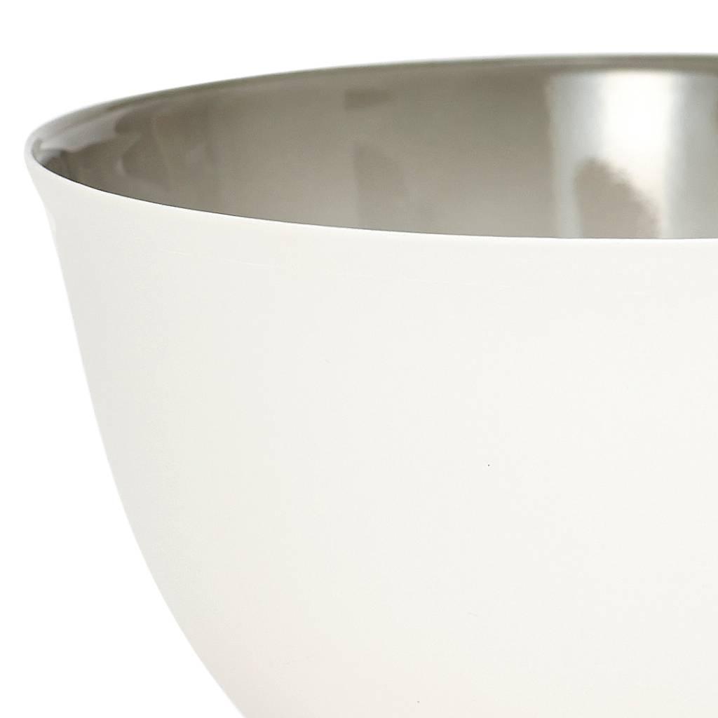 Hubsch schaal met kleurschakering - grijs/wit porselein - ø15 x 9 cm - set van 2-429001-5712772044575