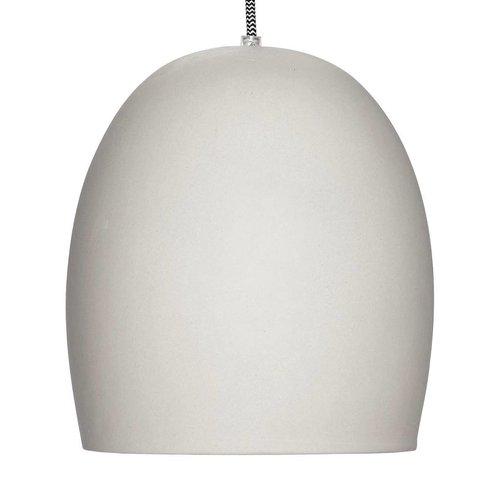 Hubsch hanglamp grijs cement - 479005 - ø23 x 30 cm