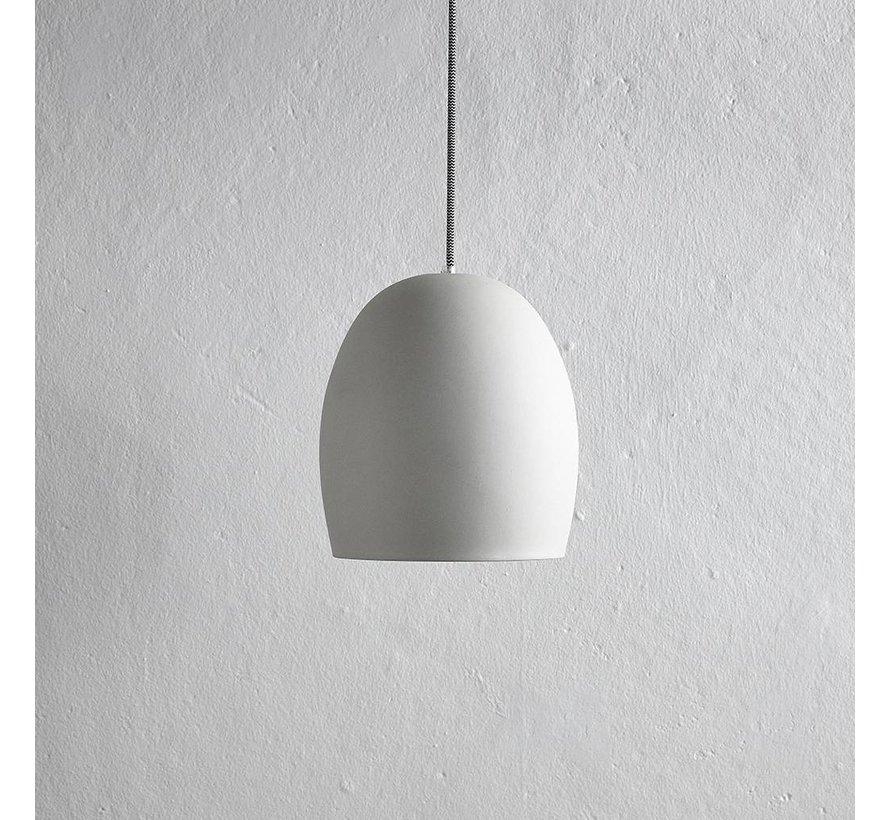 hanglamp - cement/aardewerk - grijs - ø23 x 30 cm