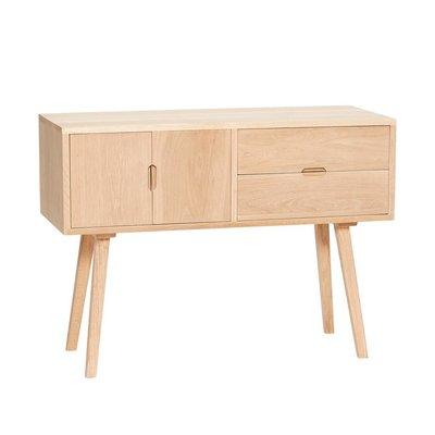 Hubsch dressoir met lades en deur - blank eikenhout - 100 x 40 x 70 cm. Hubsch 63459047