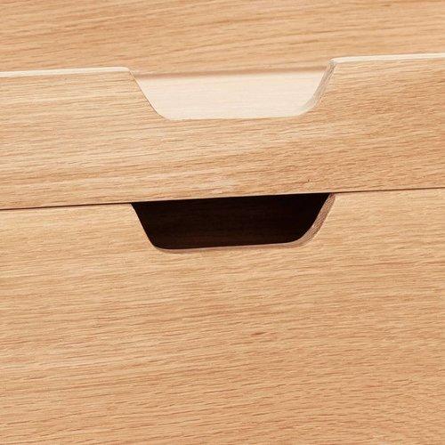 Hubsch papierhouder/organizer - blank eikenhout - 35 x 24 x 5 & 35 x 24 x 10 cm - set van 2
