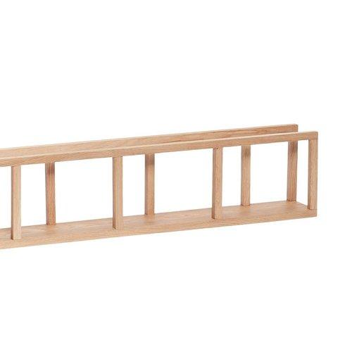Hubsch wandrek met spijlen - blank eikenhout - 110 x 13 x 22 cm