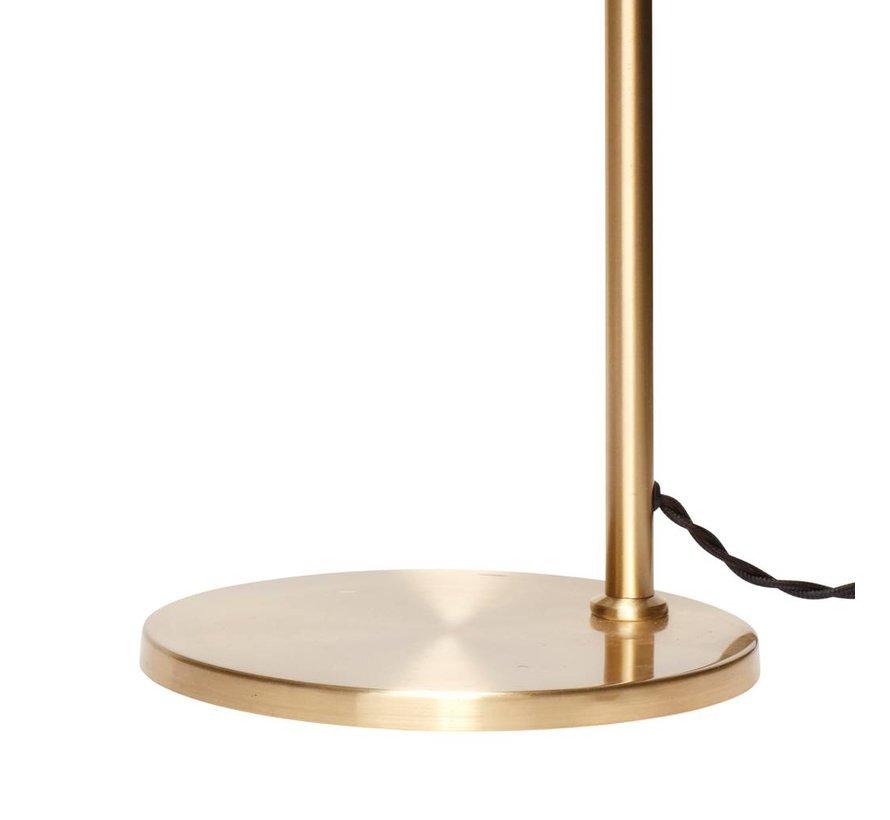 tafellamp / bureaulamp met verstelbare kap - goudkleurig messing (metaal) - E27/40W - ø38 x 56 cm