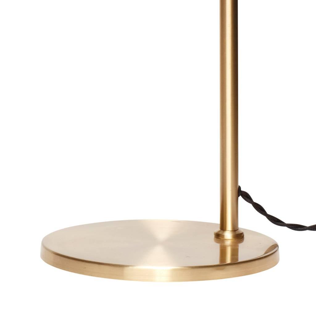 Hubsch tafellamp / bureaulamp met verstelbare kap - goudkleurig messing (metaal) - E27/40W - ø38 x 56 cm-890490-5712772059593