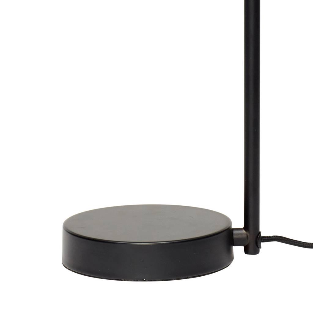 Hubsch tafellamp/bureaulamp - zwart metaal - E14/25W - ø12 x 50 cm