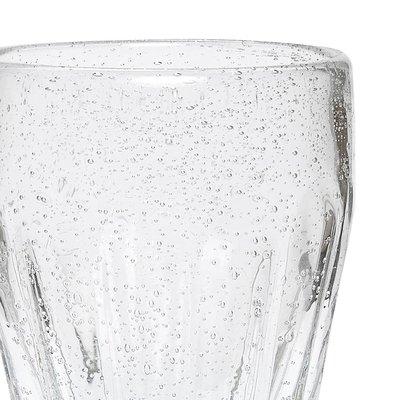 Hubsch drinkglas met groeven - glas met belletjes - ø6 x 14 cm - set van 4. Hubsch 75002966
