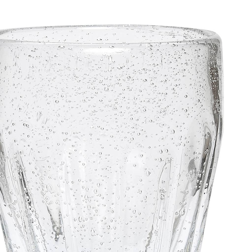 Hubsch drinkglas met groeven - glas met belletjes - set van 6-918007-5712772040430