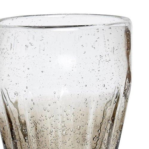 Hubsch Longdrinkglas grijs - 36 cl - 4 stuks