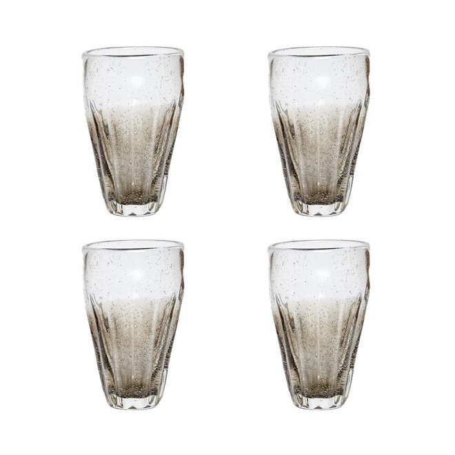 Longdrinkglas grijs - 36 cl - 4 stuks