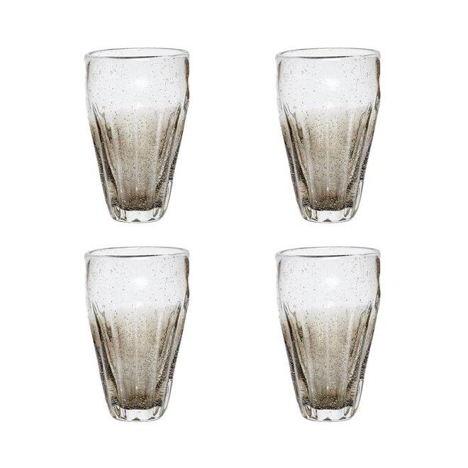 Hubsch Longdrinkglas grijs - 36 cl - 6 stuks - 918009