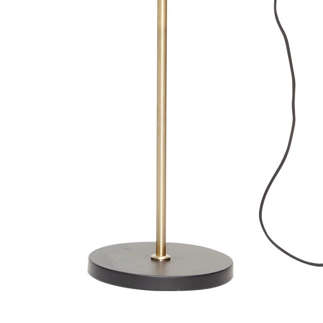 Hubsch tafellamp / bureaulamp - zwart/wit metaal en goud messing - E14/40W - 63 x 22 x 70 cm - 960301