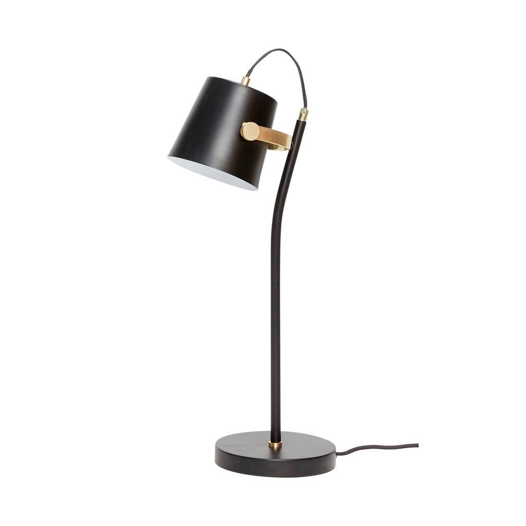 Hubsch tafellamp - zwart/goud metaal