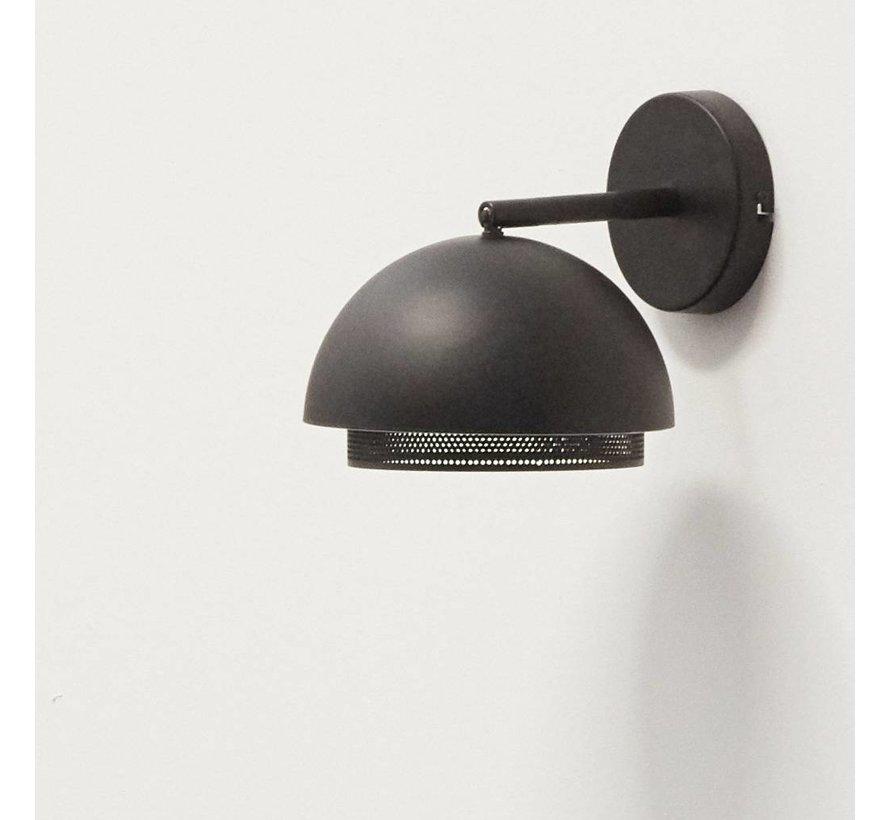 wandlamp - zwart metaal - E14/15W - ø21 x 28 cm