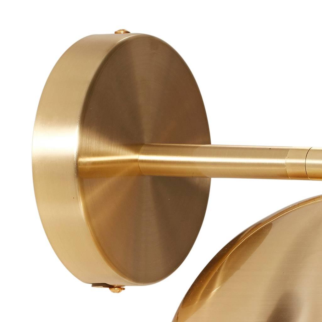 Hubsch wandlamp - goud metaal - E14/15W - ø21 x 28 cm-990708-5712772067208