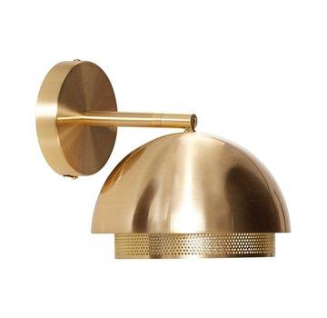 Hubsch wandlamp - goud metaal - E14/15W - ø21 x 28 cm