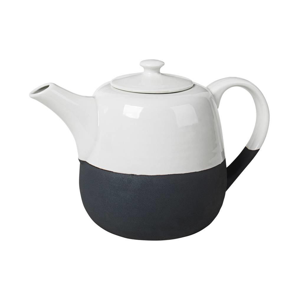Broste Copenhagen theepot Esrum - wit/zwart aardewerk - 1,3 L - 14531571