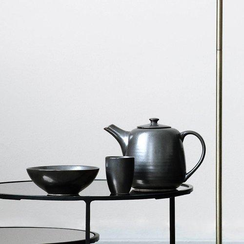 Broste Copenhagen theepot Esrum Night - zwart/grijs aardewerk - 1,3 L