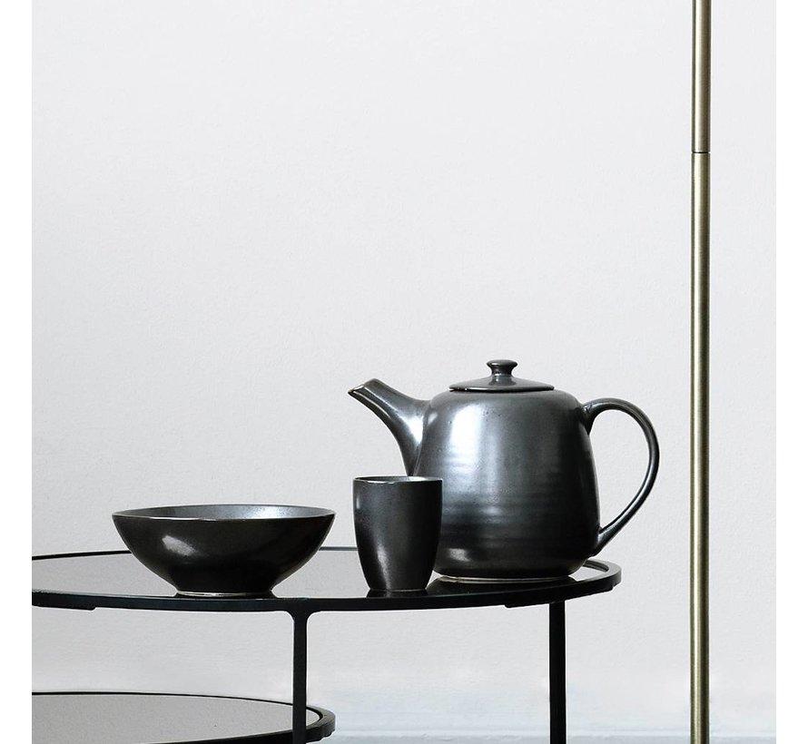 theepot Esrum Night - zwart/grijs aardewerk - 1,3 L